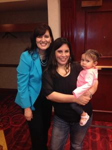 Astrid, me and my grand daughter Aaliyah! It was a great way to start the day.